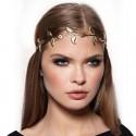 Ozdoba do vlasov - Čelenka zo zlatých listkov
