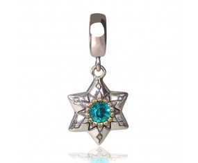 """Prívesok na náramok """"Blue Star"""" 925 Šterlingové striebro"""