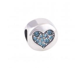 """Prívesok na náramok """"Blue Heart"""" 925 Šterlingové striebro"""