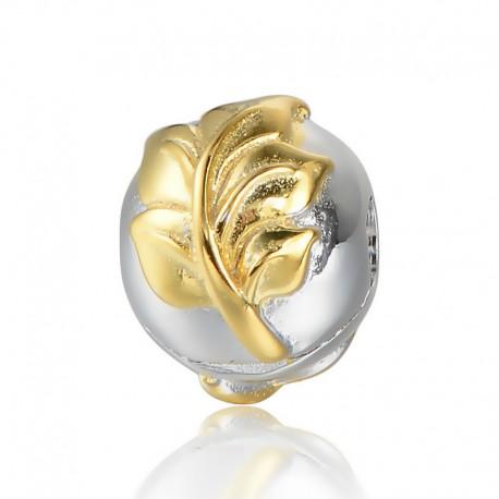 """Zacvakávacia korálka """"Gold Heart"""" 925 Šterlingové striebro"""
