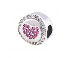 """Prívesok na náramok """"Pink Love"""" 925 Šterlingové striebro"""