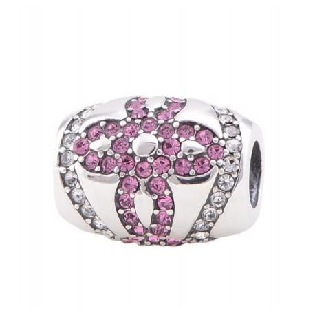 """Prívesok na náramok """"Pink bloom"""" 925 Šterlingové striebro"""
