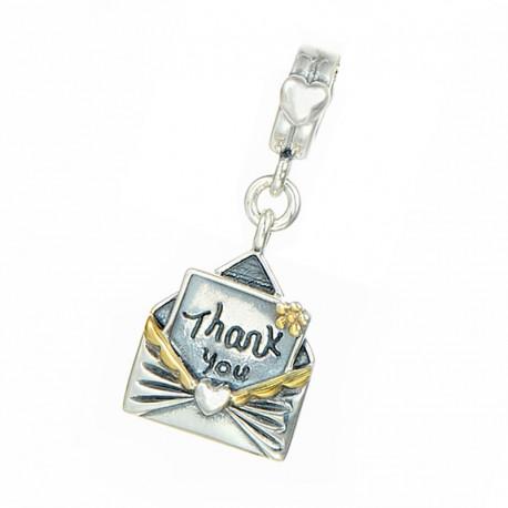 """Prívesok na náramok """"Thank You Letter"""" 925 Šterlingové striebro"""
