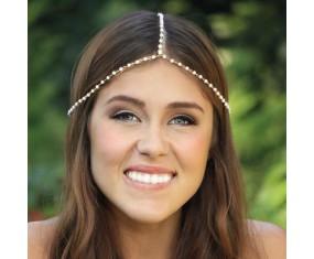 Ozdoba do vlasov - Čelenka s perličkami