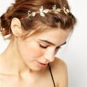 Ozdoba do vlasov - Čelenka so zlatými lístkami