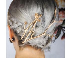 Spony do vlasov - sada zlatých vetvičiek