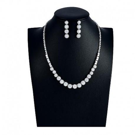 """Svadobná súprava """"Sabatier"""" (náhrdelník, náušnice)"""