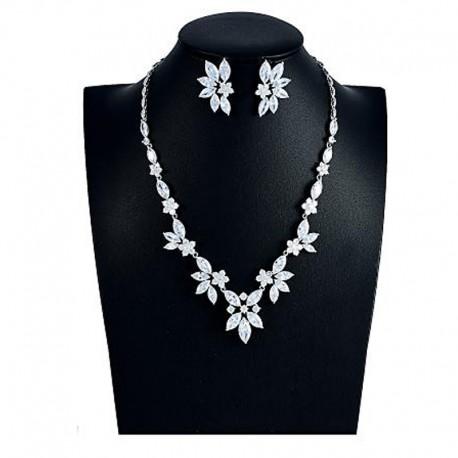 """Svadobná súprava """"Plessis-Bellière"""" (náhrdelník, náušnice)"""