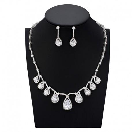 """Svadobná súprava """"Ida"""" (náhrdelník, náušnice)"""