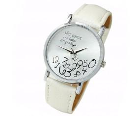 Dámske hodinky Geneva s bielym pásikom