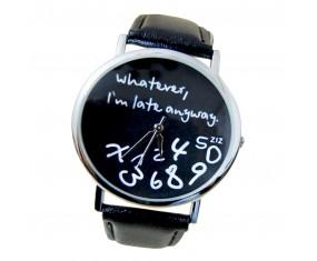 """Unisex hodinky """"Whatever..."""" s čiernym pásikom"""