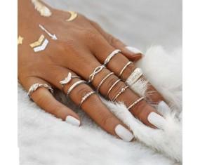 """Sada prstienkov """"Mystic Boho silver"""""""
