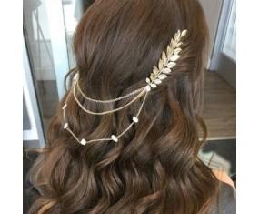 """Ozdoba do vlasov - """"Charming Pearl Leaves"""""""