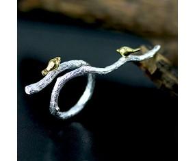 """Strieborný prsteň """"Nightingales Branch"""""""