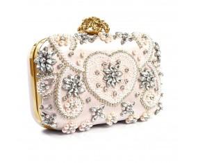 "Spoločenská kabelka ""Pale Pink Gold"""