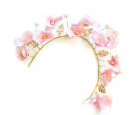 "Ozdoba do vlasov - Čelenka ""Flower Pink"""