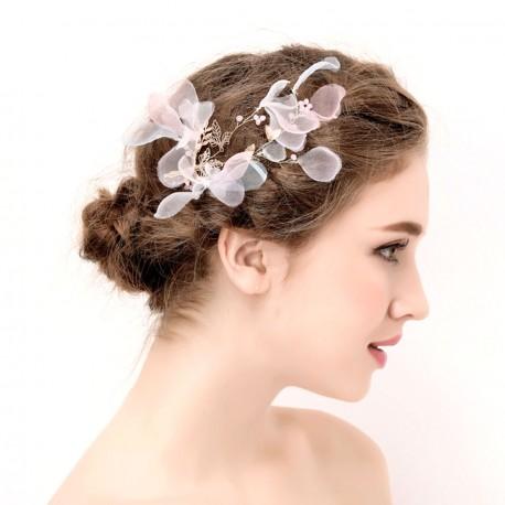 """Svadobná ozdoba do vlasov """"Silk Bloom Kiss"""""""
