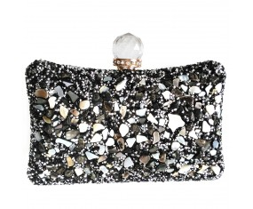 "Luxusná spoločenská kabelka ""Stone Black"""