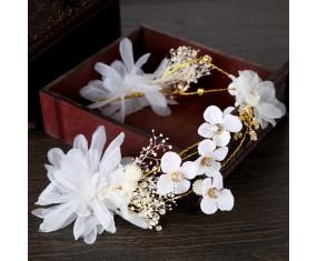 """Svadobná čelenka """"White Flower"""""""