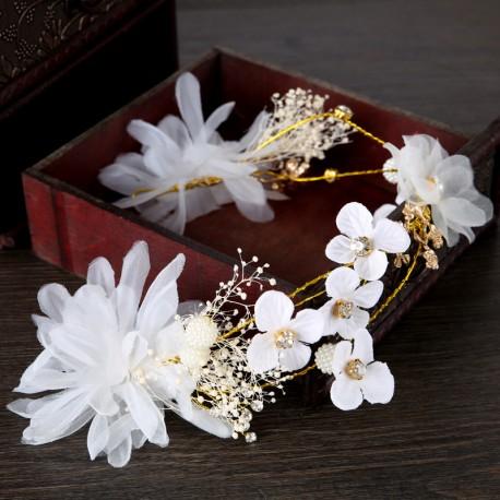 "Svadobná ozdoba do vlasov ""White Flower"""