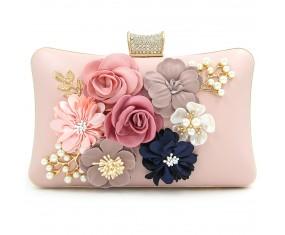 "Luxusná spoločenská kabelka-ružová ""Flower"""