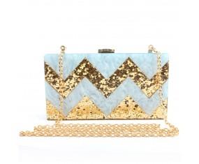 "Luxusná spoločenská kabelka ""Blue Triangle"""