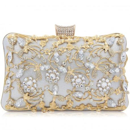"""Luxusná večerná kabelka """"Pure Silver"""""""