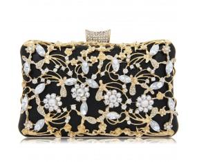 """Luxusná večerná kabelka """"Pure Black"""""""