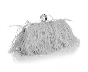 """Luxusná večerná kabelka """"Feather Dream - gray"""""""