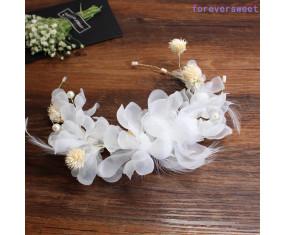 """Svadobná ozdoba do vlasov """"White Flowers"""""""