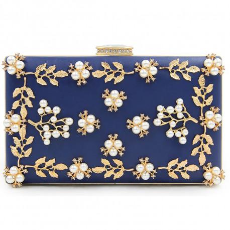 "Spoločenská kabelka-modrá ""Pearl"""