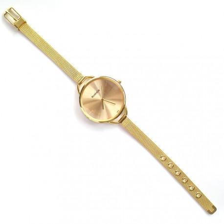 Akcia Náramkové hodinky zlaté barvy 311eaefd117