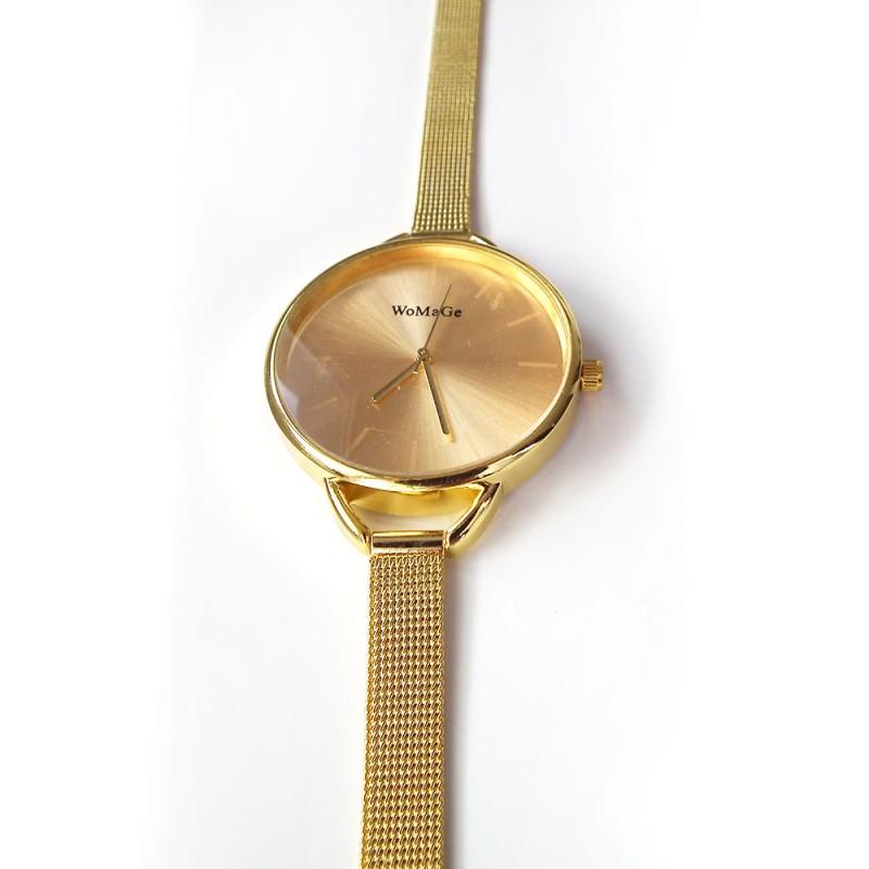 ... Náramkové hodinky zlaté barvy d9ff16e856d