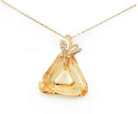 """Pozlátený náhrdelník """"Triangle"""" s kryštálom Swarovski Elements"""