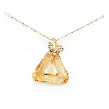 Pozlátený náhrdelník s kryštálom Swarovski Elements