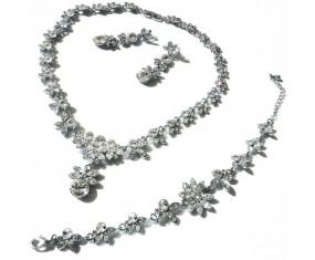Svatební souprava (náhrdelník, náušnice, náramek)