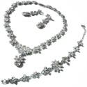 Svadobná súprava (náhrdelník, náušnice, náramok)