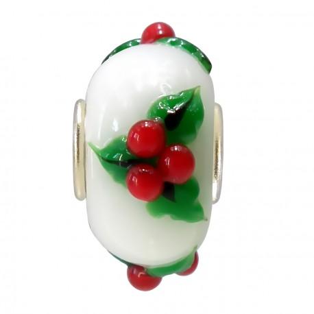 Vianočný prívesok z muránskeho skla sa imelom