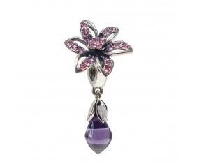 """Prívesok na náramok """"Purple diamond"""" 925 Šterlingové striebro"""