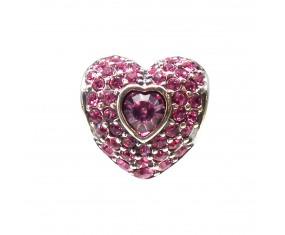 """Prívesok na náramok """"Pink Heart"""" 925 Šterlingové striebro"""