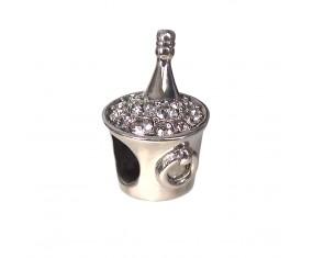 """Prívesok na náramok """"My Luxury Champagne"""" 925 Šterlingové striebro"""