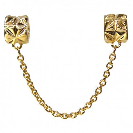 Zlatá bezpečnostná retiazka 925 Šterlingové striebro