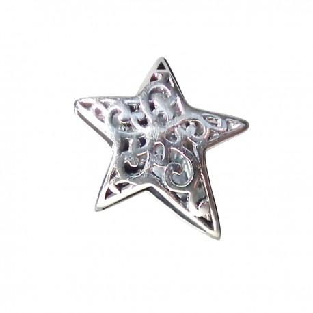 """Prívesok na náramok """"Knitted Star"""" 925 Šterlingové striebro"""