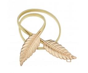 "Zlatý kovový opasok ""Leaf"""